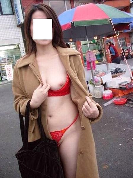 危険な場所での裸コート1