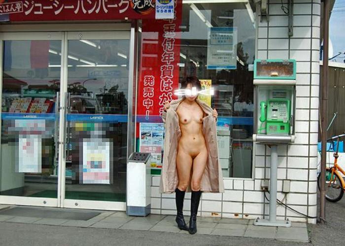 危険な場所での裸コート12